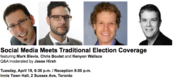 Social Media Meets Traditional Election Coverage event