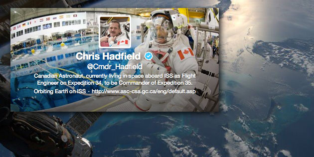 Commander Hadfield is cool, smart and Canadian!