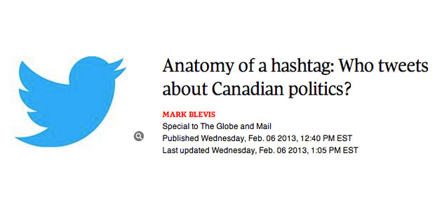 Who tweets about Canadian politics?