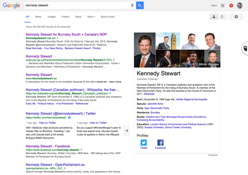 KennedyStewart-Google-results