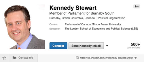 KennedyStewart-LinkedIn-profile